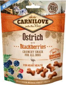 Carnilove crunchy snack voor honden Ostrich with Blackberries
