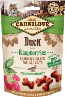 Carnilove crunchy snack voor katten Duck with Raspberries