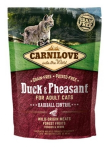 Carnilove Duck and pheasant Adult Cat kattenvoer 400gr