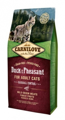 Carnilove Duck and pheasant Adult Cat kattenvoer 6kg