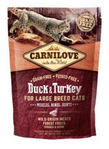 Carnilove Duck and Turkey Large Breed Cat kattenvoer 400gr
