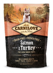 Carnilove Salmon and Turkey Large Breed Puppy hondenvoer 1,5kg