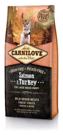 Carnilove Salmon and Turkey Large Breed Puppy hondenvoer 12kg