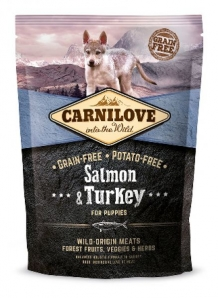 Carnilove Salmon and Turkey Puppy hondenvoer 1,5kg