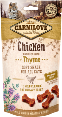 Carnilove soft snack voor katten Chicken with Thyme